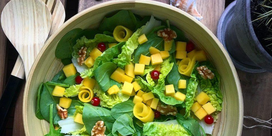 Simpel Salat Med Mango Og Spinat Carrotstickdk
